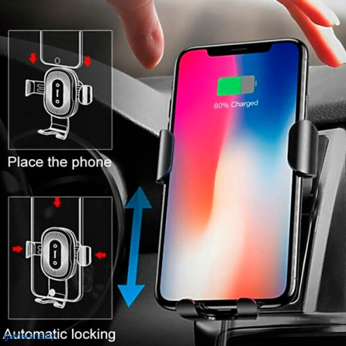 Baseus Wireless Charger Gravity Car Mount фото 3