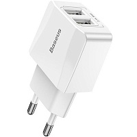 Baseus Mini Dual-U Charger Белый